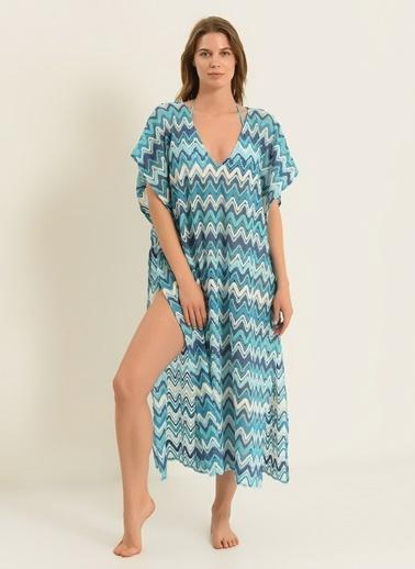 Morhipo Beach Kadın V Yaka Kimono MBKSS21KI0024 Mavi
